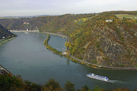 Loreley Cliffs near St. Goarshausen