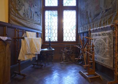 Spindel im Museum