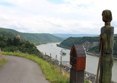Rheinsteig: Kaub – St.Goarshausen